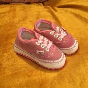 Pink suede infant vans size 1